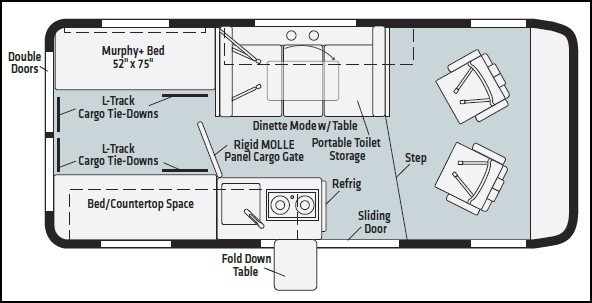2022 Winnebago Solis Pocket 36A Floorplan