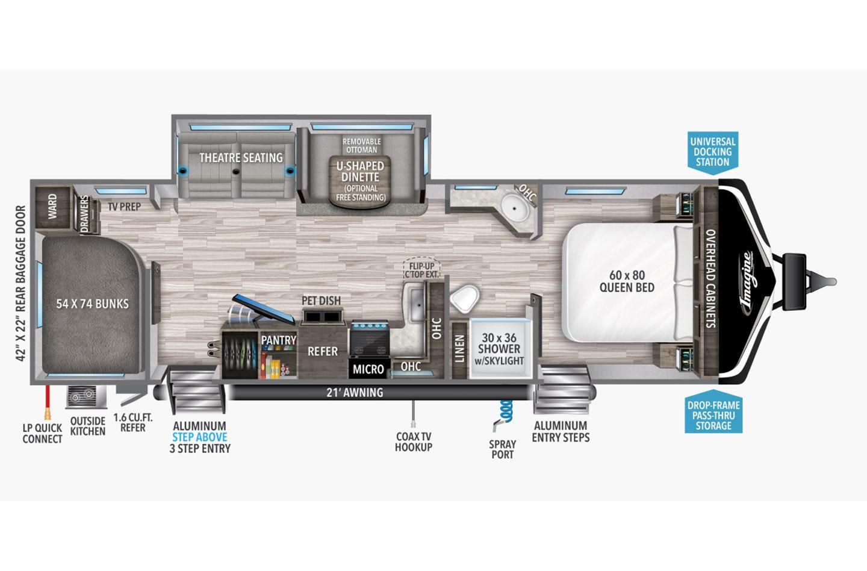 2022 Grand Design Imagine 2910BH Floorplan
