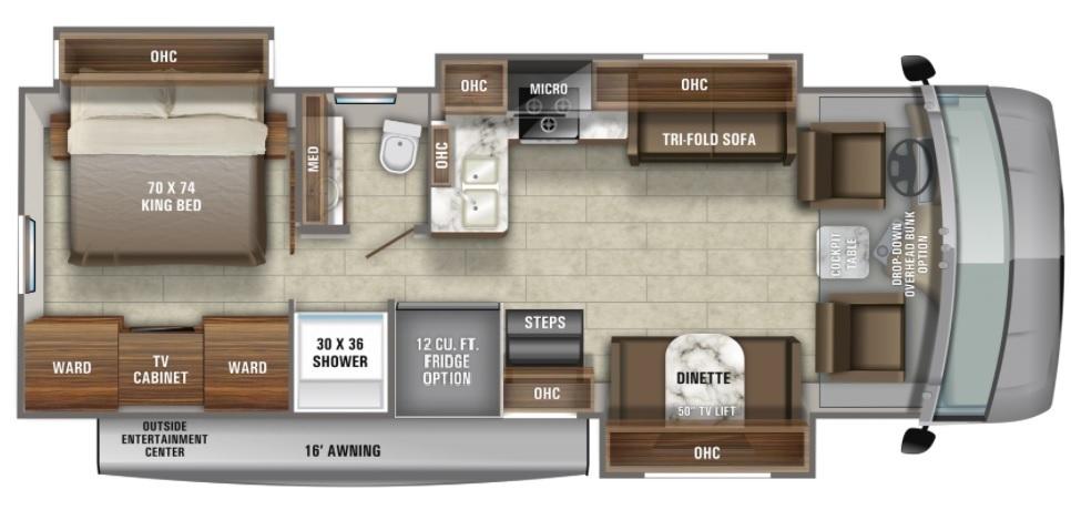 2022 Jayco Precept 31UL Floorplan