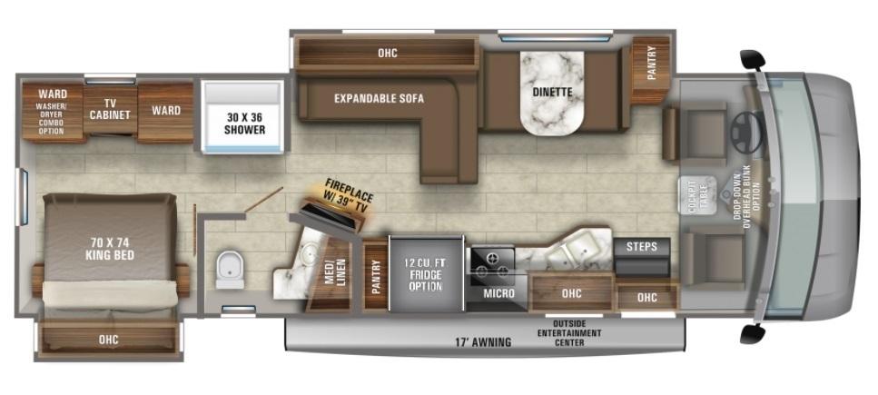2022 Jayco Precept 34B Floorplan
