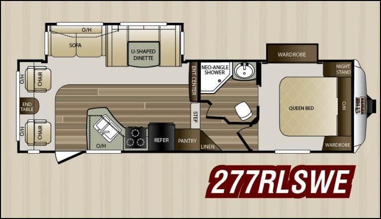 2016 Keystone Cougar 277RLSWE Floorplan