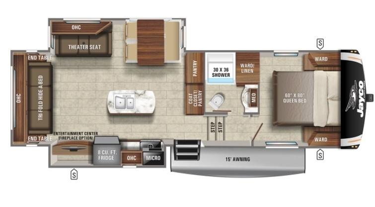 2022 Jayco Eagle HT 27RS Floorplan