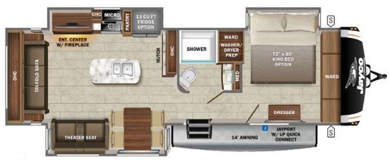 2022 Jayco Eagle HT 294CKBS Floorplan