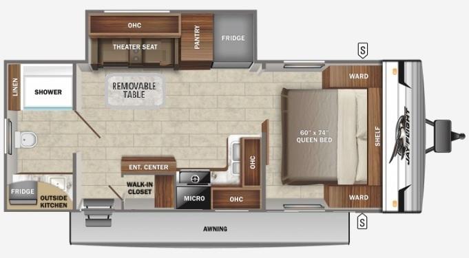 2022 Jayco Jay Flight Rocky Mountain 240RBSW Floorplan