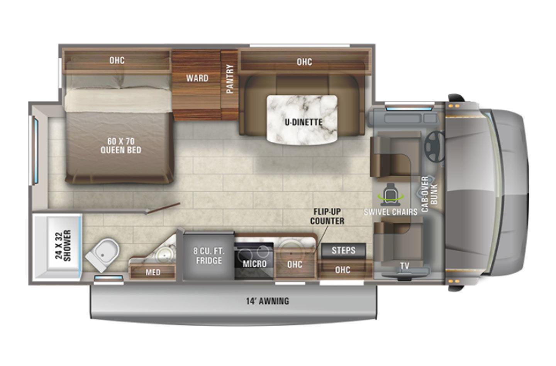 2022 Jayco Melbourne 24L Floorplan