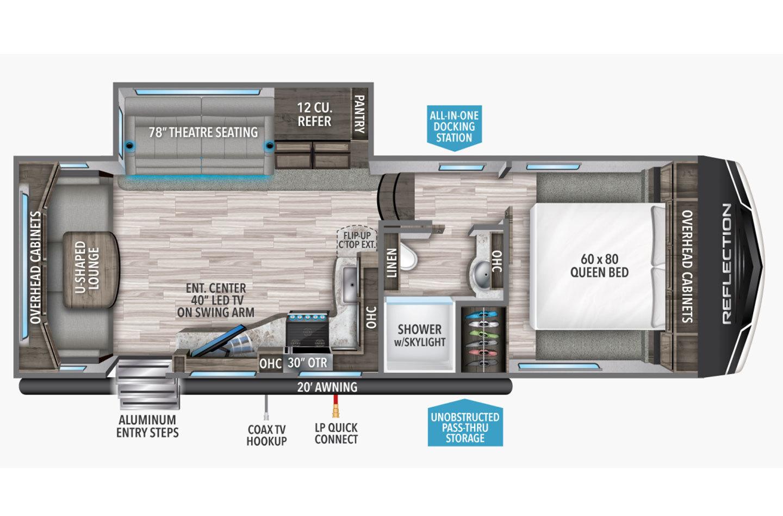 2022 Grand Design Reflection 150 Series 260RD Floorplan