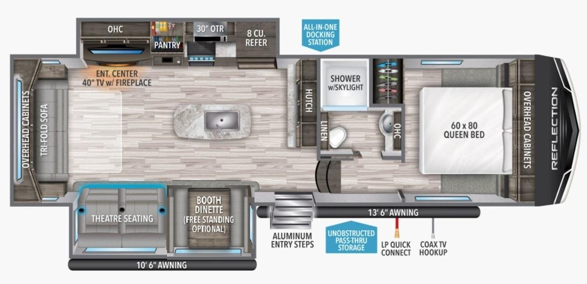 2022 Grand Design Reflection 150 295RL Floorplan