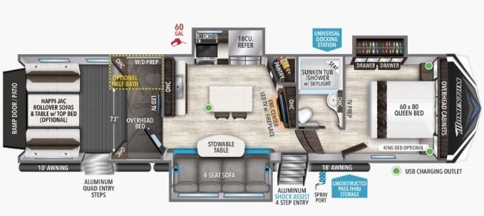 2022 Grand Design Momentum 349M Floorplan