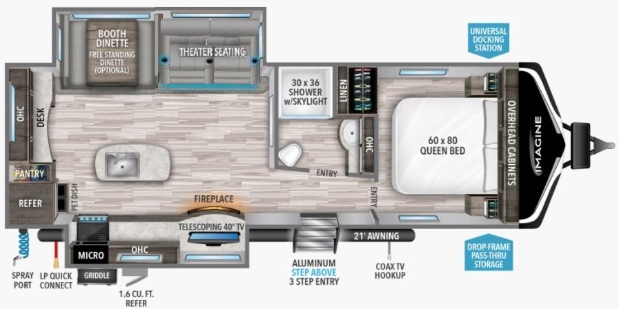 2022 Grand Design Imagine 2670MK Floorplan