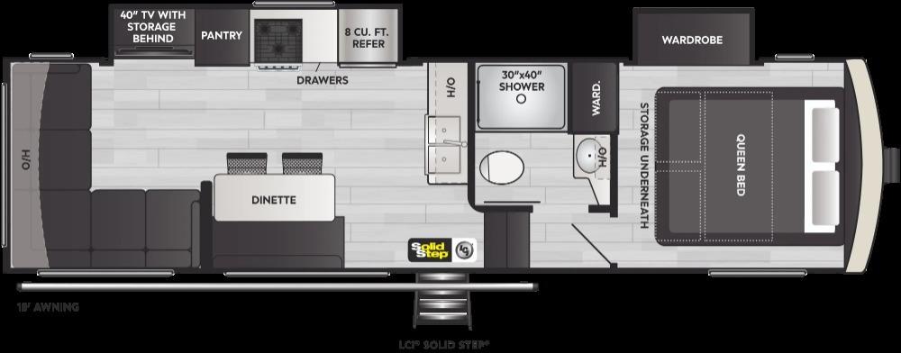 2022 Keystone Arcadia 3250RL Floorplan