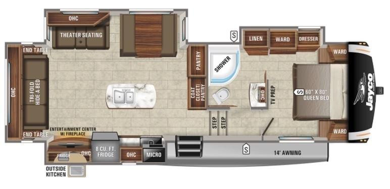 2022 Jayco Eagle HT 28.5RSTS Floorplan