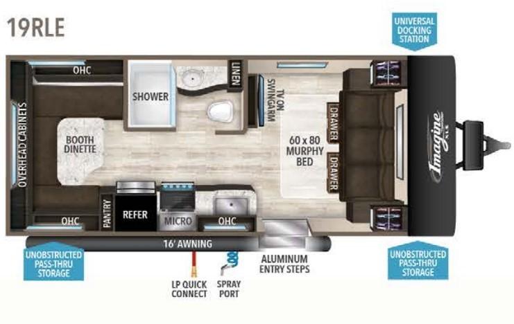 2022 Grand Design Transcend Xplor 221RB Floorplan