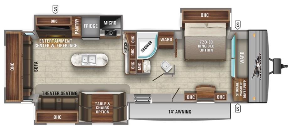 2022 Jayco White Hawk 27RB Floorplan