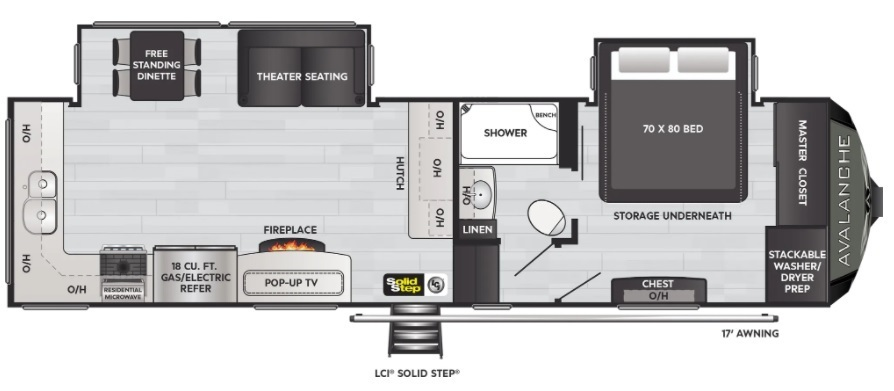 2022 Keystone Avalanche 295RK Floorplan