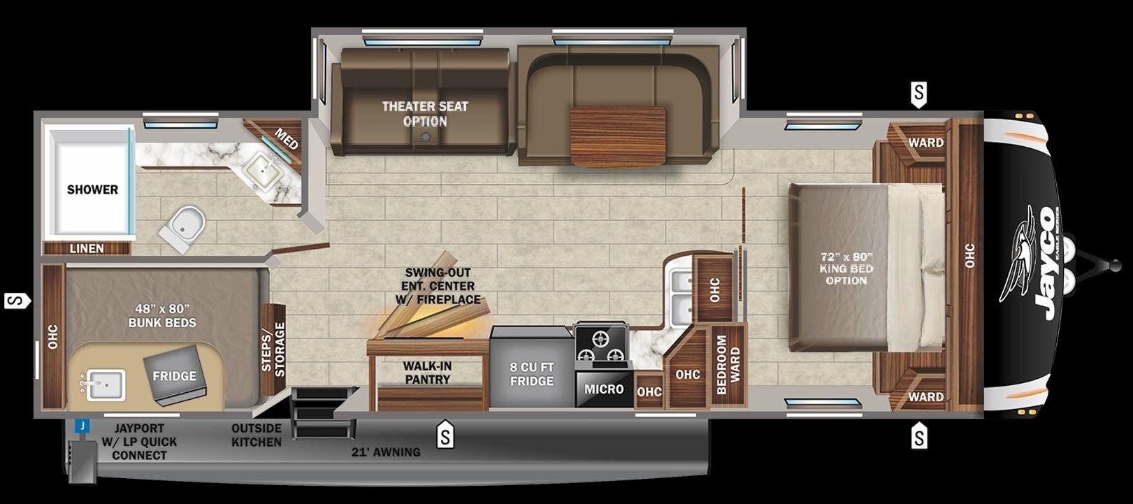 2022 Jayco Jay Flight Elite GL 32BHDS Floorplan