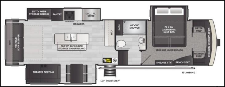 2022 Keystone Arcadia 3660RL Floorplan