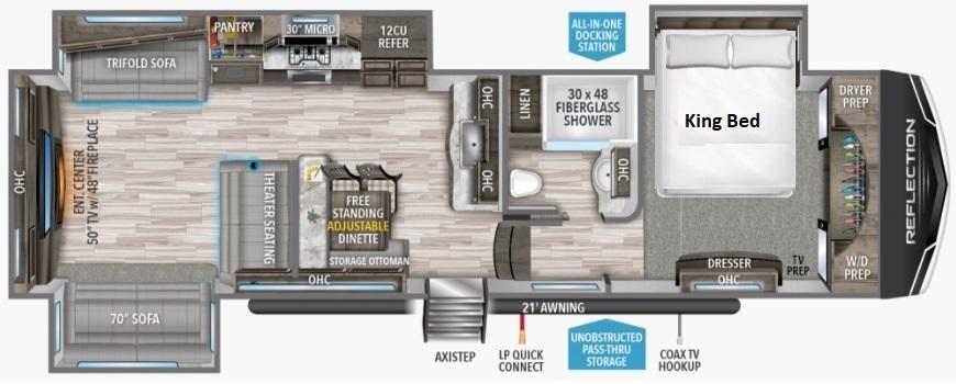 2022 Grand Design Reflection 341RDS Floorplan