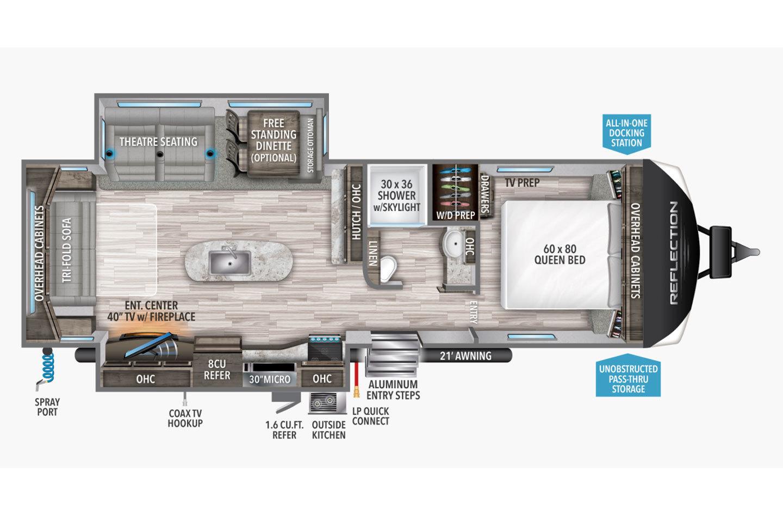 2022 Grand Design Reflection 297RSTS Floorplan