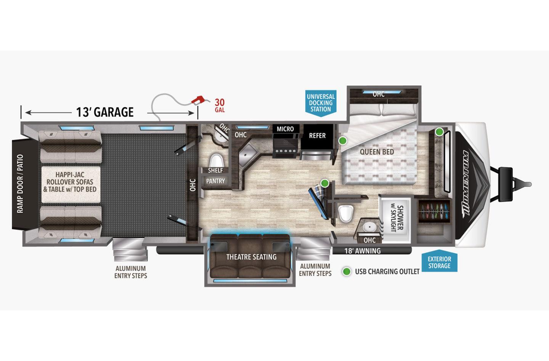 2022 Grand Design Momentum G-Class 31G Floorplan