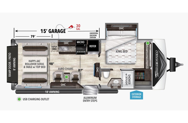 2022 Grand Design Momentum 23G Floorplan
