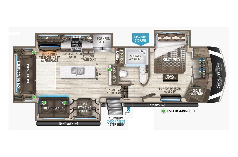 2022 Grand Design Solitude 310GK Floorplan