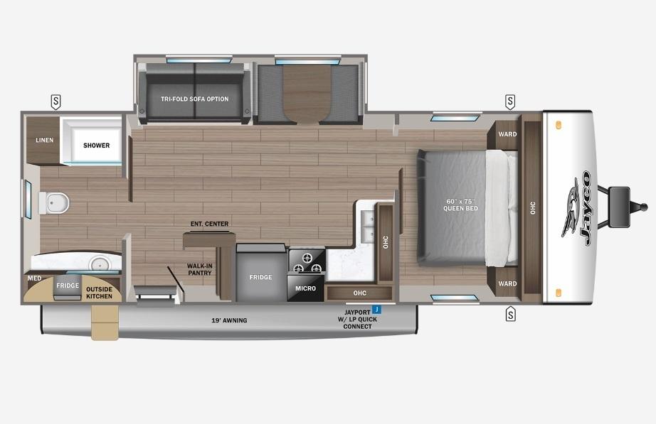 2022 Jayco Jay Feather 25RB Floorplan