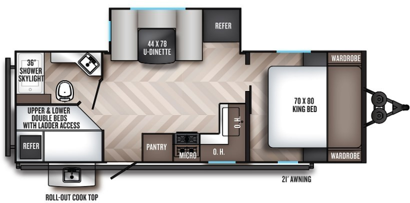 2022 Palomino Solaire GT3 Edition 243BHS Floorplan