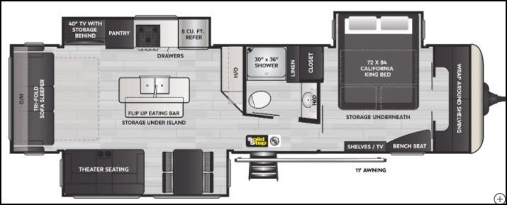 2022 Keystone Arcadia 370RL Floorplan