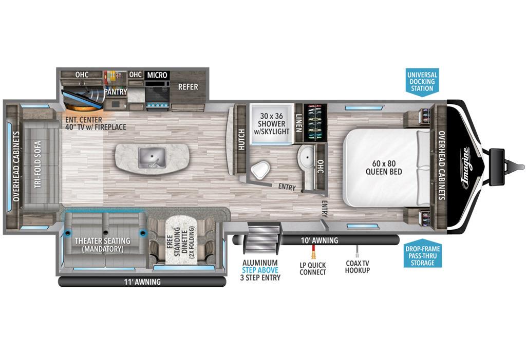 2022 Grand Design Imagine 2970RL Floorplan