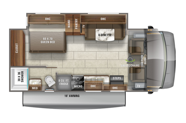 2022 Jayco Redhawk 24B Floorplan