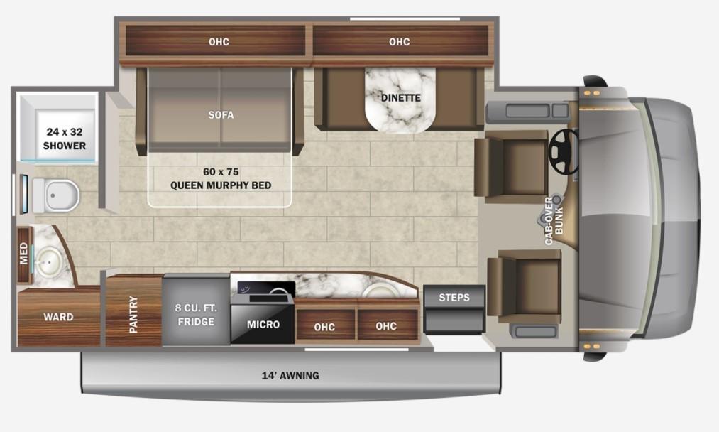 2022 Jayco Melbourne 24R Floorplan