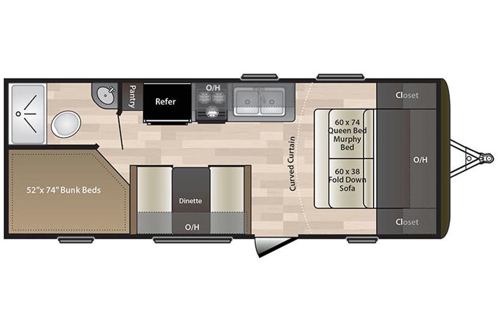 2022 Jayco Jay Flight SLX-7 174BH Baja Floorplan