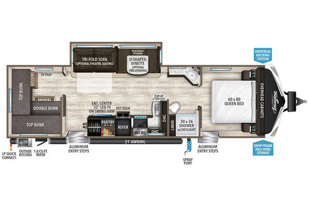 2021 Cruiser Radiance 30DS Floorplan