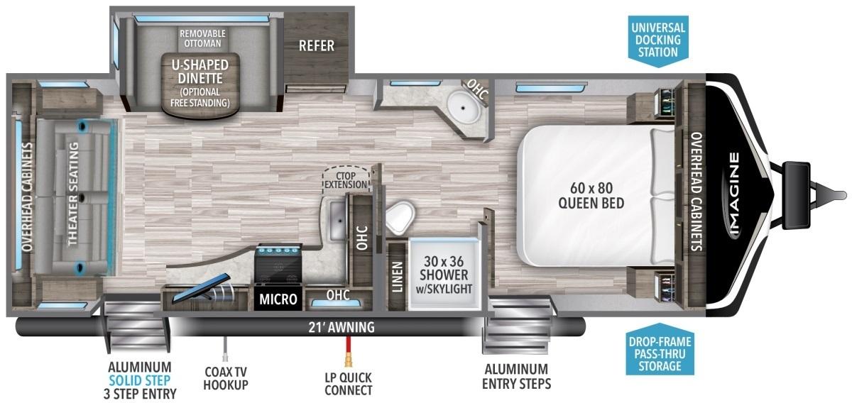 2022 Grand Design Imagine 2500RL Floorplan