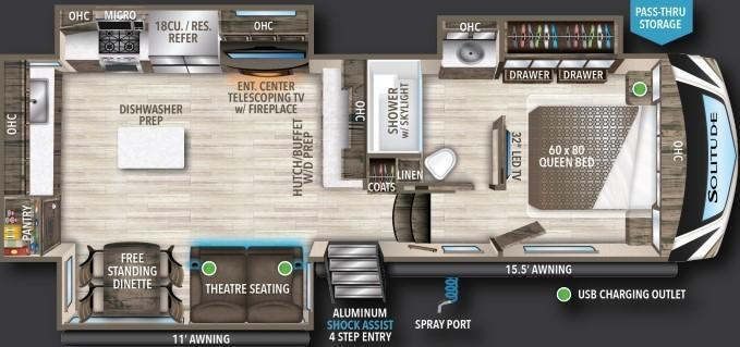 2022 Grand Design Solitude 280RK Floorplan
