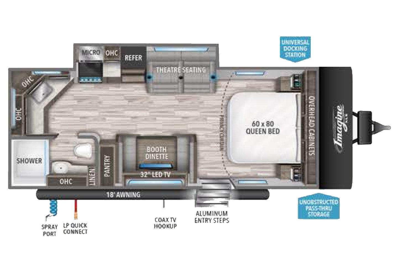 2022 Grand Design Imagine XLS 22MLE Floorplan
