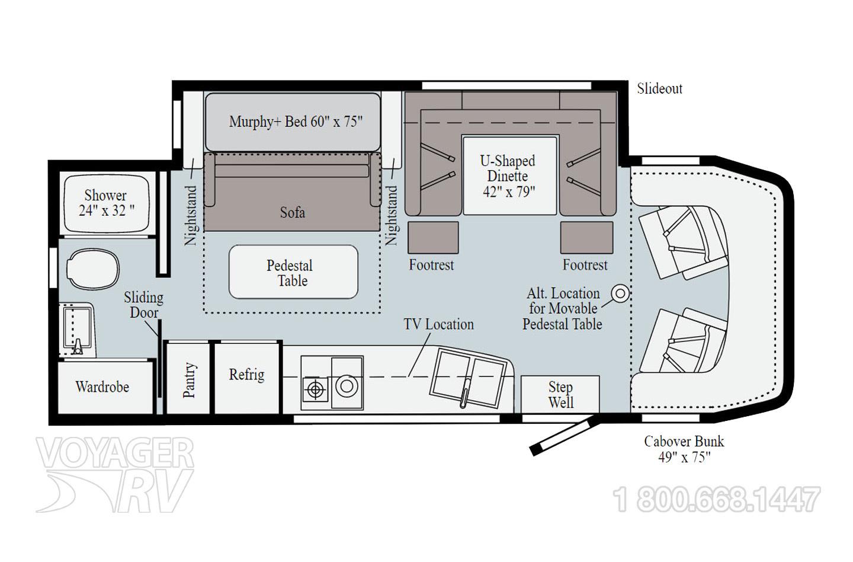 2022 Winnebago Navion 24D Floorplan