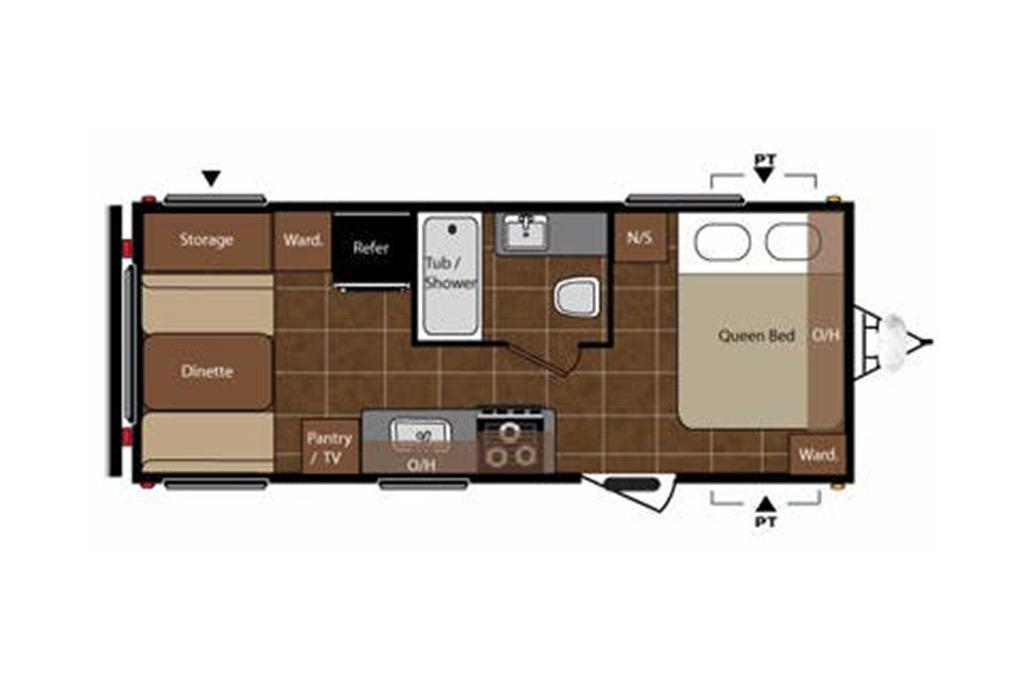 2015 Keystone  Springdale  179QB Floorplan