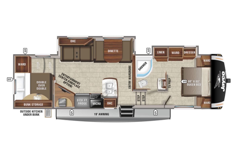 2022 Jayco Eagle HT 29.5BHDS Floorplan